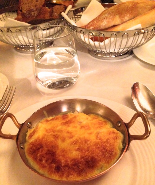The signature 'Omelette Arnold Bennett.' This fluffy omelette, with smoked haddock, hollandaise sauce and cheese, was invented at The Savoy in the 1920s and named after the writer and critic Arnold Bennett. The chefs perfected it to his taste while he was staying at the hotel, writing a novel.