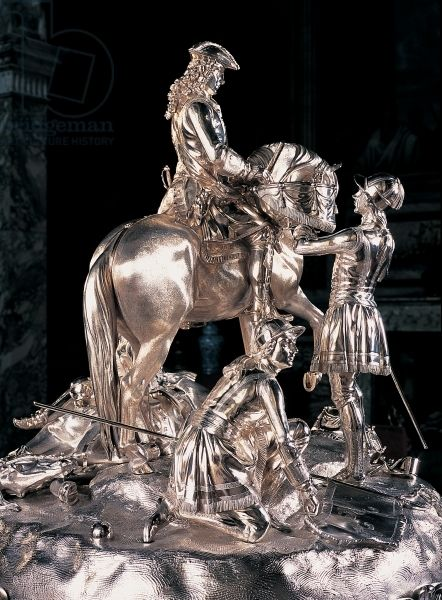 Silver centrepiece of the Duke of Marlborough after his victory at Blenheim (silver), Garrard.jpg