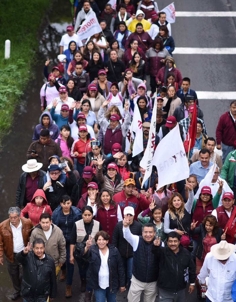 Delfina Gómez inició la 'Marcha de la Esperanza'