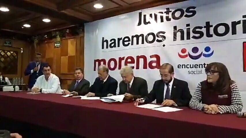 Morena, PT y PES firman coalición, van por la presidencia y el bienestar moral