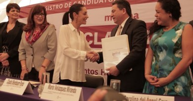 Sheinbaum registra candidatura ante el INE