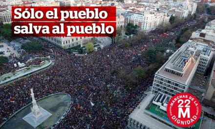 La Marcha de la Dignidad llena las calles de Madrid