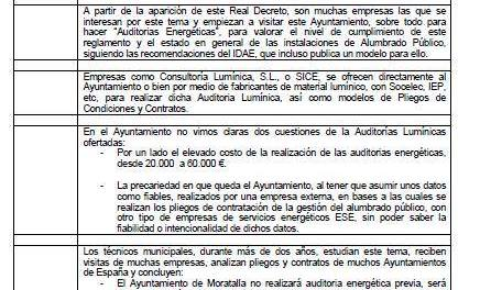 Comunicado del Ayuntamiento de Moratalla sobre el expediente de contratación del servicio de energía y alumbrado municipal