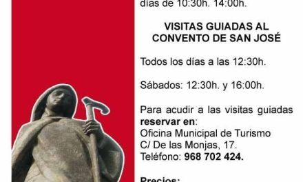 Turismo de Caravaca oferta todos los días de la semana visitas guiadas al antiguo convento de San José