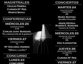 El Festival de Guitarra de Caravaca se celebra del 23 al 28 de marzo con conciertos y conferencias