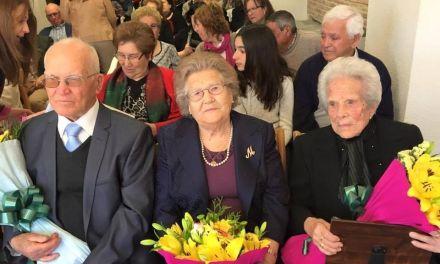 El Ayuntamiento de Bullas homenajea a las tres personas más longevas de La Copa