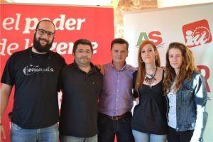 José Santos, con el resto de candidatos