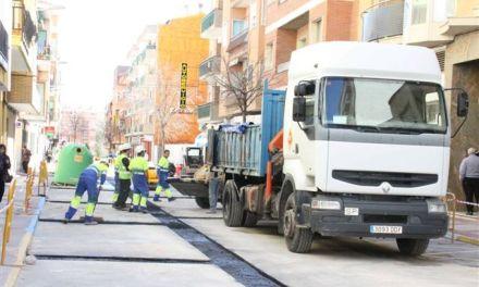 Renuevan la red de suministro de agua en el barrio de las calles Simancas y Cervantes de Caravaca
