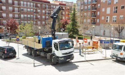 Instalan 4 puntos de contenedores soterrados y colocarán 100 nuevas papeleras en el casco urbano de Caravaca