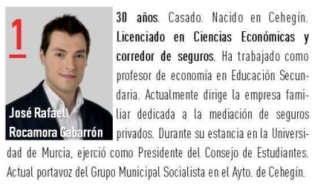 Los socialistas de Cehegín proponen un debate entre los cinco candidatos