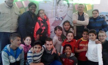 El alumnado del San Francisco de Caravaca celebra el Día del Libro con Alonso Palacios Rozalén