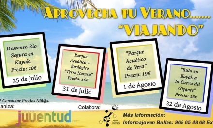 Viajes y actividades veraniegas para todos los públicos en la programación de Juventud del Ayuntamiento de Bullas