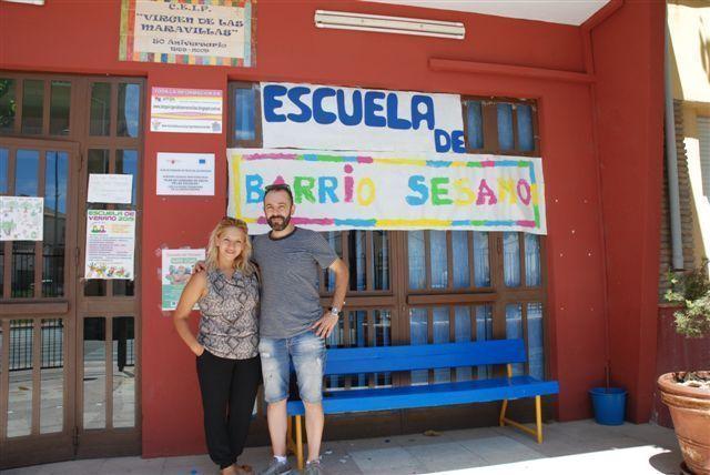 Los representantes de Cehegín por el Cambio destacan la importancia de los comedores de verano en su visita al colegio Virgen de las Maravillas