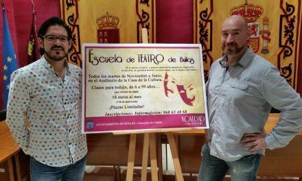 La Escuela de Teatro de Bullas echa a andar el próximo mes de noviembre