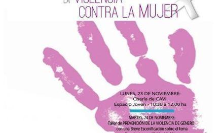 """La Concejalía de la Mujer de Cehegín organiza varios actos para conmemorar el """"Día internacional para la eliminación de la violencia contra la mujer"""""""