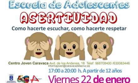 La 'Escuela de Adolescentes' de la Concejalía de Juventud de Caravaca propone seis nuevos talleres y charlas