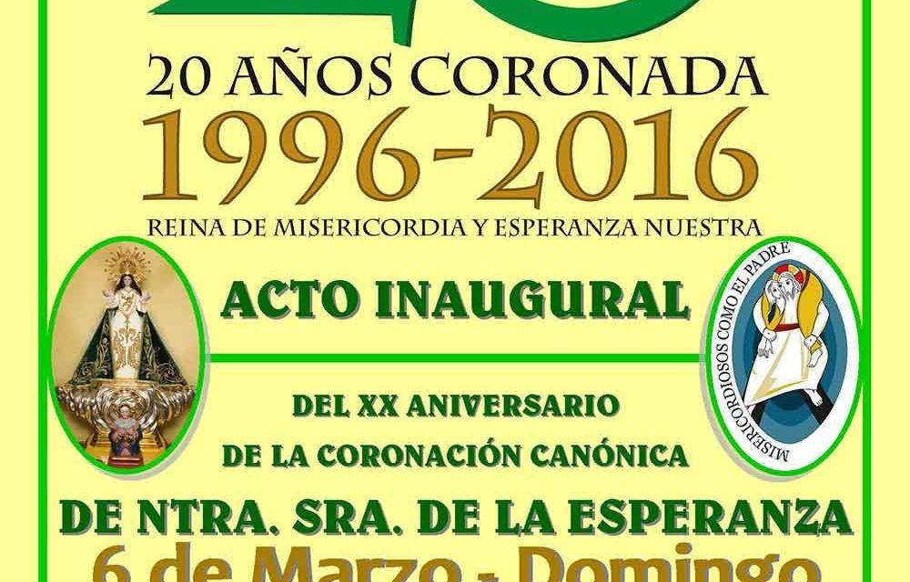 Presentación del Acto Inaugural del XX Aniversario de la Coronación Canónica de Ntra. Sra. de la Esperanza