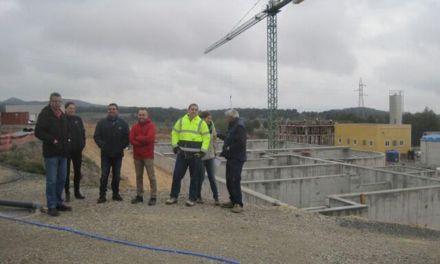 La nueva estación depuradora de aguas residuales de Bullas se prevé que esté lista para el verano