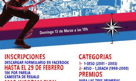 Se celebra la I Carrera de Orientación Urbana en edad escolar de Moratalla el domingo 13