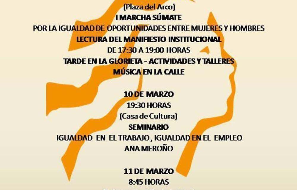 Caravaca conmemora mañana el Día de la Mujer con la marcha 'Súmate' y la lectura del manifiesto