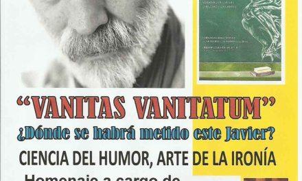 Homenaje a Javier Krahe en Caravaca el 10 de marzo dentro de las jornadas «Una educación para el siglo XXI»