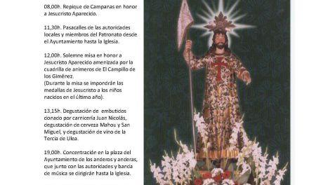 Fiesta el 19 para celebrar el día del patrón de Moratalla, Jesucristo Aparecido