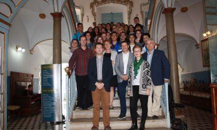 Los alumnos alemanes de intercambio del IES Alquipir visitan el Ayuntamiento de Cehegín
