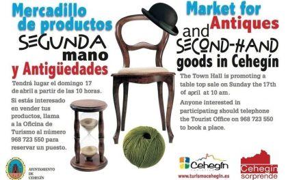 El mercadillo de antigüedades y segunda mano de Cehegín vuelve el domingo 22 de mayo
