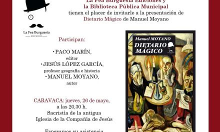 Manuel Moyano presenta este jueves 'Dietario mágico' en la Feria del Libro de Caravaca