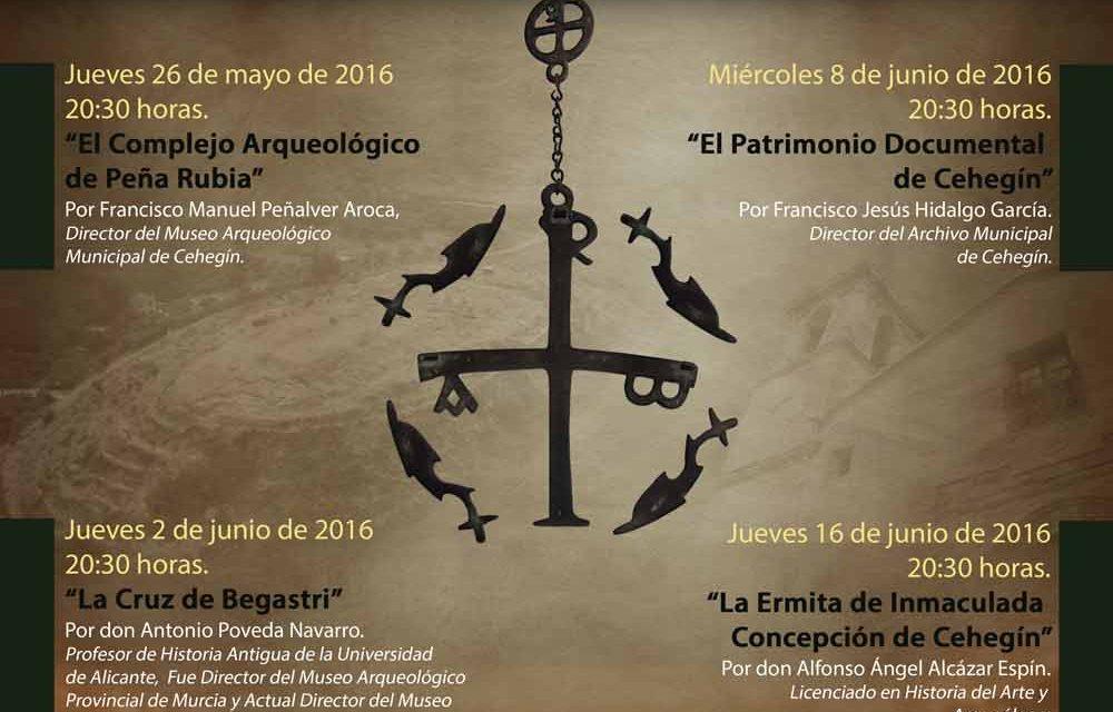 """La  conferencia sobre """"El complejo Arqueológico de Peña Rubia"""" abre hoy el Ciclo sobre Patrimonio Histórico de Cehegín"""