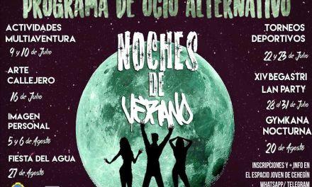 """El programa, """"Noches de verano"""", busca ofrecer en Cehegín un ocio alternativo y saludable a nuestros jóvenes"""
