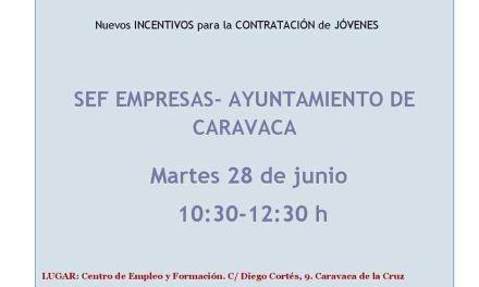 Caravaca acoge una jornada sobre medidas de fomento del empleo e incentivos para la contratación de jóvenes