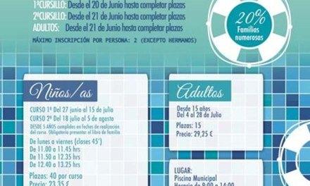 Deportes Caravaca oferta 450 plazas para los cursos de iniciación y perfeccionamiento de Natación