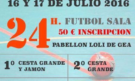 """El III Campeonato de Fútbol Sala de Barracas """"Ciudad de Cehegín, se celebrará los días 16 y 17 de julio en el Pabellón """"Loli de Gea"""""""