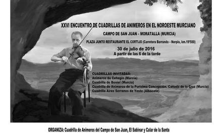 El Encuentro de Cuadrillas de Animeros en el Noroeste Murciano se celebra el día 30 en el Campo de San Juan