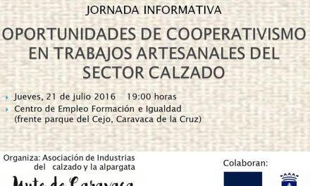 Una jornada informativa sobre cooperativismo y trabajo artesanal, el jueves 21 en Caravaca