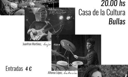 Zoramena actúa el 13 de agosto en la Casa de la Cultura de Bullas