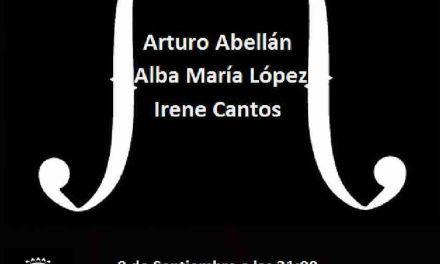 Concierto hoy en Caravaca de Jóvenes Promesas, con Arturo Abellán, Alba María López e Irene Cantos
