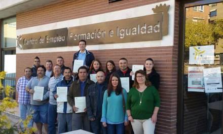 15 desempleados de Caravaca reciben formación en limpieza de espacios abiertos e instalaciones industriales