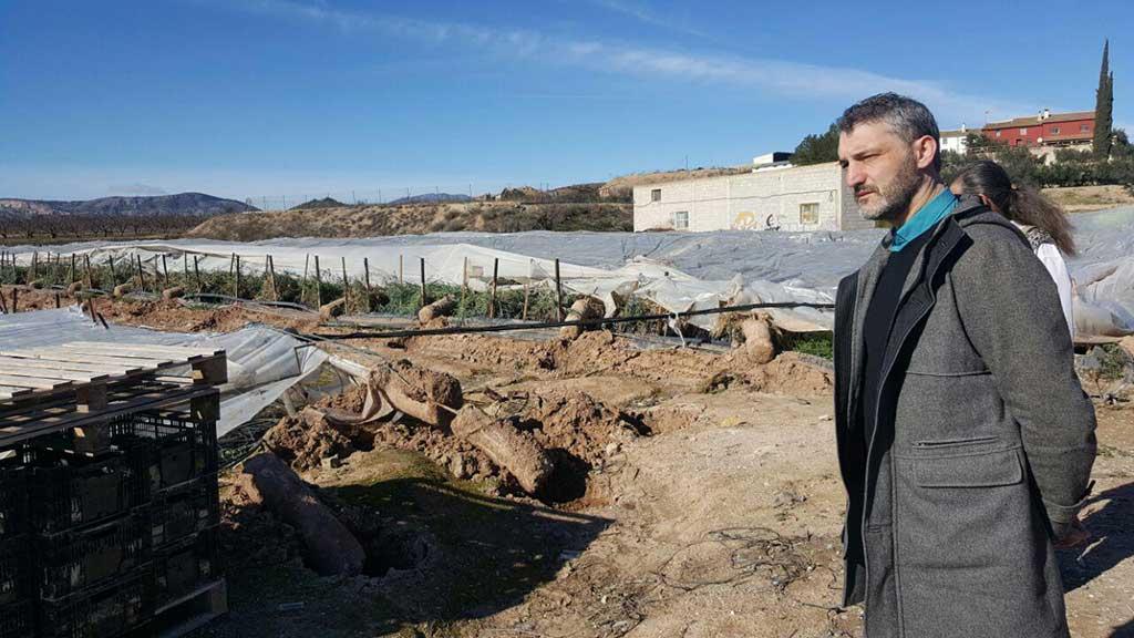 Podemos solicitará que las pedanías de Canara y Valentín se declaren zonas catastróficas