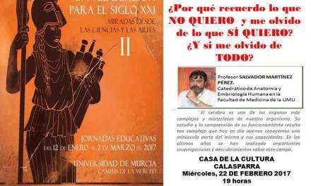 Conferencia de Salvador Martínez Pérez en Calasparra dentro de las jornadas «Una educación para el siglo XXI»