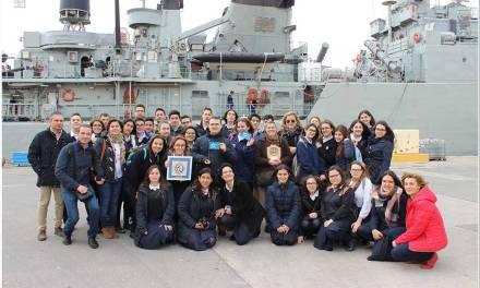 El Colegio Nuestra Señora del Sagrado Corazón recoge uno de los premios, como ganador del proyecto Antártica
