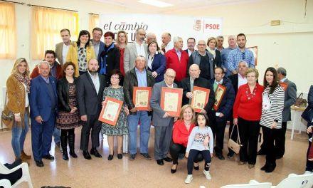 El Partido Socialista de Caravaca rinde homenaje a los pedáneos de la época de Antonio García Martínez-Reina