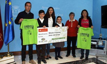 La ONG 'Delwende' recibe 11.000 euros de la marcha 'Caravaca por Filipinas'