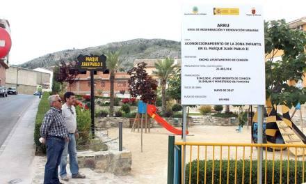 El Ayuntamiento de Cehegín acondicionará la zona infantil del parque Juan Pablo II con pavimento de seguridad acabado en césped artificial