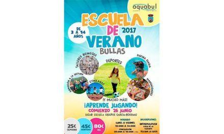 La Escuela de Verano de Bullas y La Copa comienza el 26 de junio con Aquabul