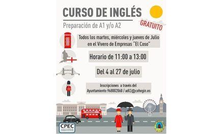La Concejalía de Desarrollo Local de Cehegín oferta un curso gratuito de inglés de preparación para el A1 y/o A2