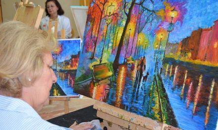 Mujeres que pintan, en Mula