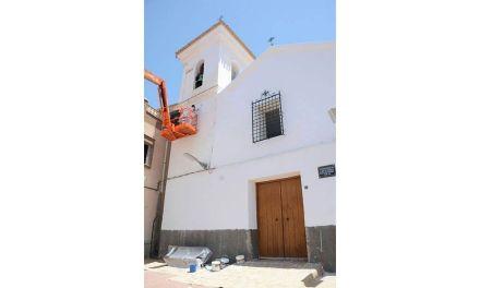 Esta semana concluirán los trabajos de pintura de la Ermita de San Juan Bautista de Campos del Río