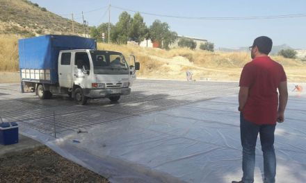 Iniciados los trabajos de reparación de la pista polideportiva de Canara